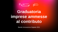 Bando Innovazione digitale 2021: graduatoria di concessione dei contributi