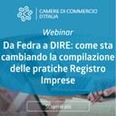 Da Fedra a DIRE: come sta cambiando la compilazione delle pratiche Registro Imprese