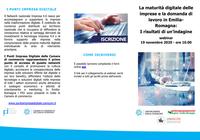 La maturità digitale delle imprese in Emilia-Romagna: online i materiali dell'indagine presentata il 19 novembre