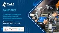 Aperto il bando MADE 2021 per progetti di innovazione, ricerca industriale e sviluppo sperimentale in ambito Industria 4.0