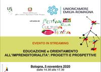 """Festival della cultura tecnica. """"Educazione e orientamento all'imprenditorialità. Progetti e prospettive"""""""