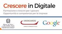 """Progetto """"Crescere in digitale"""": opportunità e competenze per le imprese con tirocini in azienda di 6 mesi, finanziati da """"Garanzia Giovani"""""""