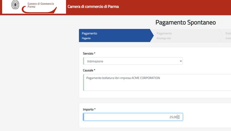 istruzioni per utilizzo piattaforma di pagamento Sipa ufficio bollatura