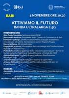 """Webinar """"Attiviamo il futuro. Banda ultralarga e 5G"""" giovedì 5 novembre"""